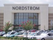 The exterior of a typical Nordstrom department store at The Florida Mall located in Orlando, Florida.