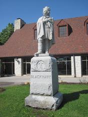 Statue of Black Hawk (chief), on display at Black Hawk State Historic Site