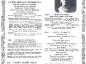 The billing from the Radio Times issue of May 25-31, 1947, illustrating the night's programmes on radio for Queen Mary including the performance of Three Blind Mice