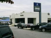Car dealership in Rockville, Maryland (Courtesy Jeep, now Darcars Chrysler/Jeep) located at: 755 Rockville Pike. Rockville, Maryland 20852.