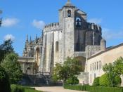 Convent of Christ in Castle Tomar, Portugal. Built in 1160 as a stronghold for the Knights Templar, it became the headquarters of the renamed Order of Christ. In 1983, it was named a UNESCO World Heritage Site.