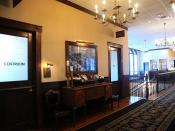 Coatroom, photo, private upstairs dining rooms, hallway, Maggiano's Little Italy, Italian restaurant, Woodfield Road, Schaumburg, Illinois, USA