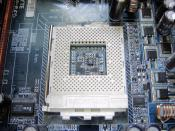 English: Socket A (Socket 462) on motherboard Gigabyte GA-7VT880-RZ(C)