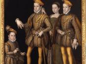 Italiano: Caterina de' Medici con il figlio re Carlo IX, Margherita detta