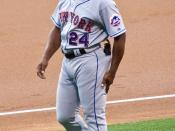 New York Mets first base coach Rickey Henderson on July 16, 2007