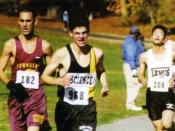 English: Boys Cross Country Track team competing at Van Cortlandt Park, a major national Cross Country racing field located half a mile from the Bronx Science building, and where the team holds its regular practice.