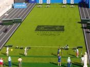 English: Archery competition at the Athens 2004 Olympic Games. Plattdüütsch: Bagenscheet-Wettstriet in't Panathinaikos-Stadion bi de Olympischen Sommerspelen in Athen 2004. Русский: Дуэльный раунд на соревнованиях по стрельбе из лука на Олимпийских игра в