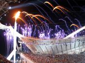 The Olympic Flame during the Opening Ceremony of the 2004 Summer Olympics, held in Athens.