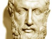 Parmenides was among the first to propose an ontological characterization of the fundamental nature of reality.