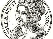 English: Portia Catonis was a Roman woman who lived in the 1st century BC. She was the daughter of Marcus Porcius Cato Uticencis and his first wife Atilia.