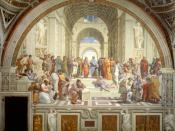The School of Athens - fresco by Raffaello Sanzio (w) Español: La escuela de Atenas.