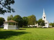 English: East Bridgewater Town Common, East Bridgewater, Massachusetts