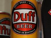 Can of Duff beer, produced in the 1990s by the Lion Nathan brewery in Australia