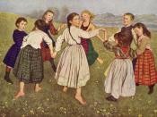 Der Kinderreigen (Children's dances) by Hans Thoma shows children engaged in the traditional Austrian Round dance.