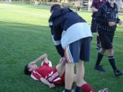 English: Johnny Yao, taken in October 2008 Ankle injury