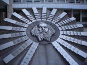 English: Monument to the periodic table, in front of the Faculty of Chemical and Food Technology of the Slovak University of Technology in Bratislava, Slovakia. The monument honors Dmitri Mendeleev.