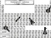 Periodic table of elements, black&white