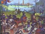 Fifteenth-century miniature depicting the English victory over France at the Battle of Agincourt.