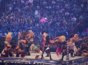 Diva Battle Royal during Wrestlemania 25 at Reliant Park in Houston Texas 2009