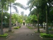 English: Main entrance to the Rio de Janeiro Zoo, with gardens. The Rio de Janeiro Zoo is located at the Parque Quinta da Boa Vista (Quinta da Boa Vista Park), 20940; in Quinta da Boa Vista, a location in the neighborhood of São Cristóvão (North Side of t