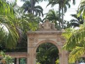 Entrance to Quinta da Boa Vista gardens and Zoological Park of Rio de Janeiro, Brazil