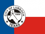 Flag of the city of Lubbock, Texas