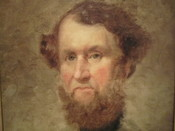 English: I took photo with Canon camera at National Portrait Gallery, Cyrus Hall McCormick, the inventor. Public domain.
