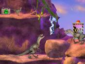 The player is faced by a variety of dinosaurs, such as Velociraptor and Compsognathus