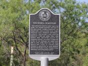 Thurber Cemetery, Thurber, Texas Historical Marker