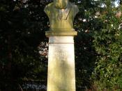 Sculpture of Julius Otto Grimm at Münster (Westphalia), Germany.