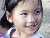 One of the many Chinese girls that has been adopted by American families.