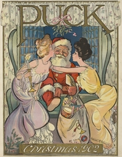 English: Santa Claus as illustrated in , v. 52, no. 1344 (December 3 1902), cover.