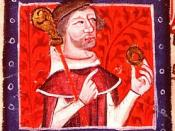 English: Henry of Blois ; British Library, MS Nero DVII, f.87v; see http://www.norman-world.com/angleterre/histoires/8/zoom/8-2-hb.htm for more info