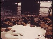 Detergent Wastes near the Interstate Bridge at Vancouver Empty Into the Columbia River in Pools of Froth 05/1973