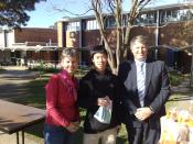 Staff and students from Narrabundah College. From left to right: Student Representative Council staff, student, Assistant Principal. Photo taken using a Nokia N95. Personality rights used fairly.