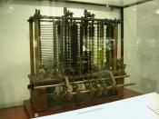 Français : Machine Analytique de Charles Babbage, exposée au Science Museum de Londres (Mai 2009)
