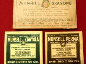 English: Original Munsell crayons both prior to and after Crayola purchasing the rights to use their crayon colors.