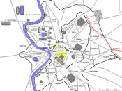 Français : Plan de Rome avec l'aqua Marcia en rouge.