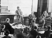Charles A. Lindbergh on the witness stand.