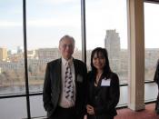 English: PATAS Chairwoman Marissa Torres-Langseth and Richard Dawkins.