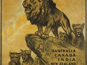English: The Parliamentary Recruiting Committee produced this First World War poster. Designed by Arthur Wardle, the poster urges men from countries of the British Empire to enlist in the British army.