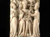 English: St Thomas Becket enthroned as Archbishop of Canterbury from a Nottingham Alabaster in the Victoria & Albert Museum