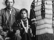 Photo of Black Elk, his wife and daughter