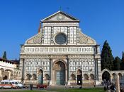 The façade of Santa Maria Novella, completed by Leon Battista Alberti in 1470.