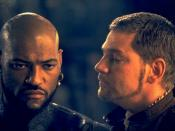 Laurence Fishburne and Kenneth Branagh as Othello and Iago respectively, in a scene from the 1995 version of Othello.