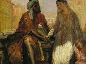 Othello and Desdemona in Venice, 1850, oil on wood, 25 x 20 cm, in the Louvre, Paris. Another work inspired by Shakespeare