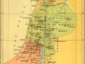 The United Kingdom of Solomon breaks up, with Jeroboam ruling over the Northern Kingdom of Israel (in green on the map).