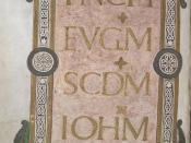 Gospels of St Luke and St John - caption: 'Incipit to St John's Gospel'