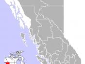 Location of Ladner, British Columbia