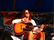 Sarah McLachlan at a 1993 benefit for Clayoquot Sound.